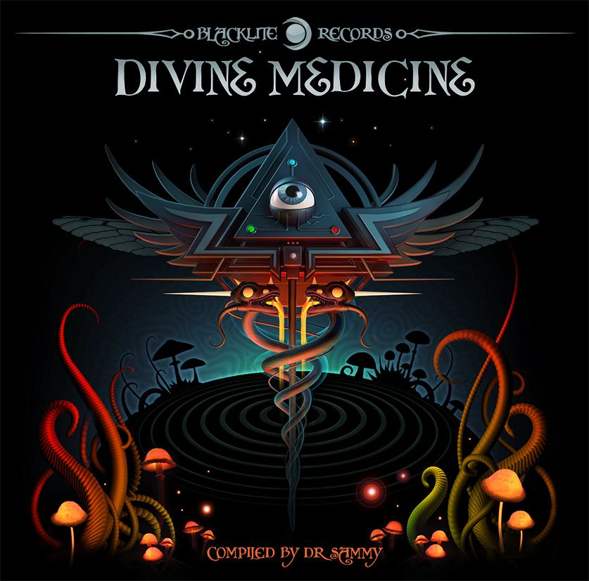 Devine Medecine cover - Blacklite records (Italy)